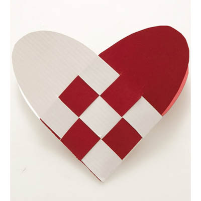 youve got a heart shaped basket that will open up gently erase - Valentine Paper Crafts