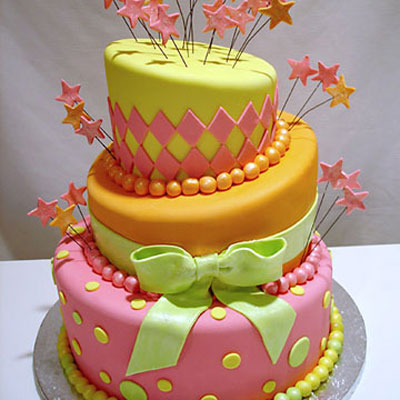 Go Crazy With A Topsy Turvy Cake In Bright Colors By Pink Cake Box