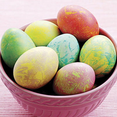 Make marbled easter eggs dye easter eggs easter decorations 1 to 2 dozen white eggs food coloring white vinegar olive oil ccuart Gallery