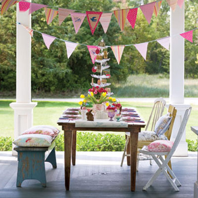Keep The Decor Simple With Fabric Banners In Playful Colors And Bouquets Of  Flowers Handpicked From