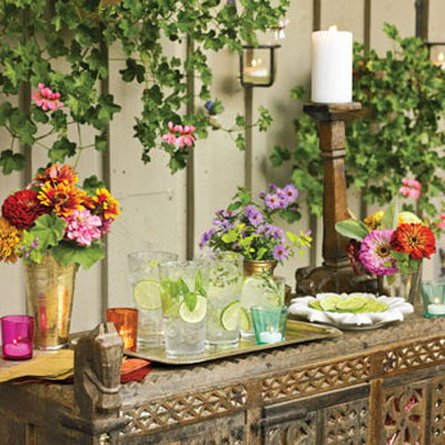summertime table settings - how to set a summertime table