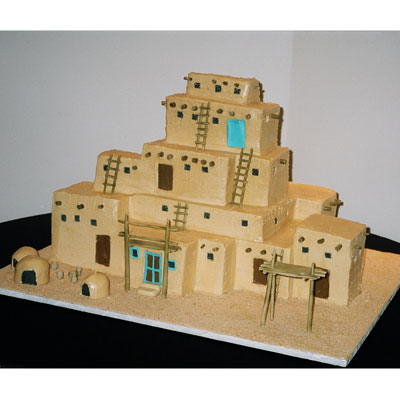 Model pueblo house