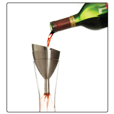 "Experts recommend letting wines breathe to dramatically improve the flavor. You don't need to be a sommelier to aerate wine — you can do it at home with this funnel which creates a ""shower,"" allowing wine to absorb more oxygen in a shorter amount of time. (SurLaTable.com, $19.95)"