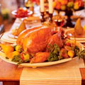 The star of Thanksgiving is roast turkey, glazed and tender and encircled by fresh herbs and fruits. Serve this with a lighter-than-expected Sourdough Mushroom Stuffing.The star of Thanksgiving is roast turkey, glazed and tender and encircled by fresh herbs and fruits. Serve this with a lighter-than-expected Sourdough Mushroom Stuffing.