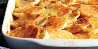 Turnip And Sweet Potato Gratin