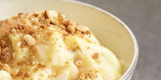 David Guas remembers this comforting dessert from the buffet spreads at family events.Recipe: Banana Pudding with Vanilla Wafer Crumble