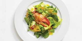 The sweetness of the lobster and tomatoes is balanced by a light but flavorful lemon-orange dressing. Tarragon adds a fresh zing. Recipe: Lobster Salad with Greens and Citrus Vinaigrette