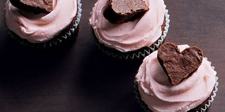 Transform chocolate brownies into decadent cupcakes for a Valentine's Day sweet certain to induce a smile. They're perfect for an office party for 20 or a quiet dinner for two.Recipe: Brownie Heart Cupcakes