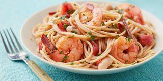 Garlicky Shrimp and White Beans