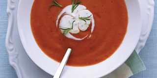 Supersweet tomatoes will make this cold soup extra-delicious. But to enhance the flavor of even less-than-perfect produce, Melissa Rubel adds tomato paste, which has a rich, concentrated taste.Recipe: Chilled Tomato Soup with Tarragon Crème Fraîche