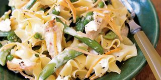 Chicken With Lemony Egg Noodles And Peas