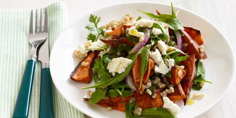 Roasted Sweet Potato Salad with Barley and Arugula