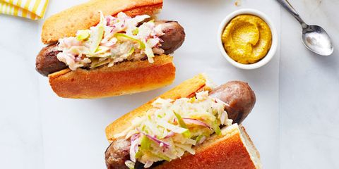 Grilled Sausage and Apple Slaw Subs