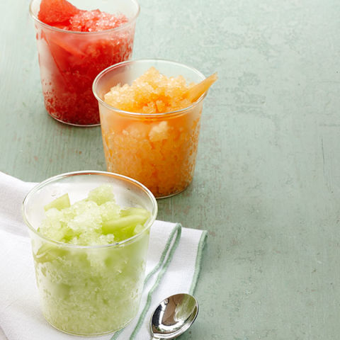 Refreshingly simple, these summer fruit granitas are flavored with ...