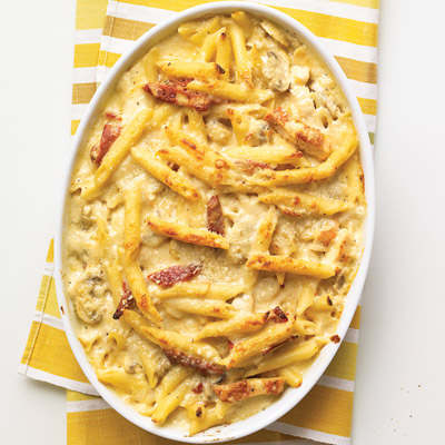 Baked Penne with Chicken and Sun-Dried Tomatoes Recipe
