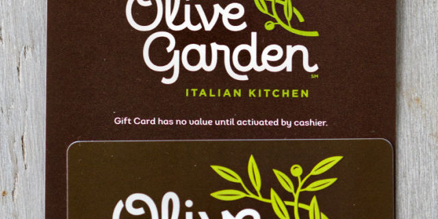Free 100 Olive Garden Gift Card