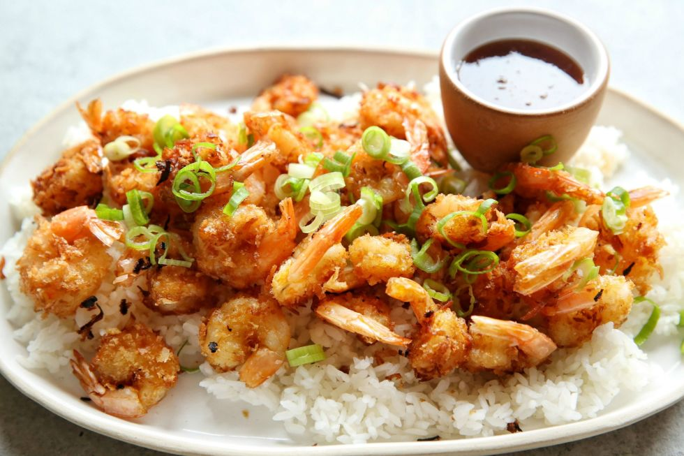 The best part of any appetizer platter becomes the best dinner ever. Get the recipe: Coconut Shrimp with Spicy Honey