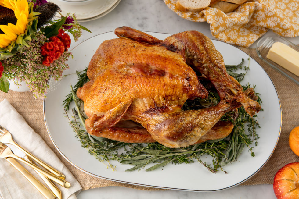 A straightforward and easy way to roast a turkey. Get the recipe from Delish.