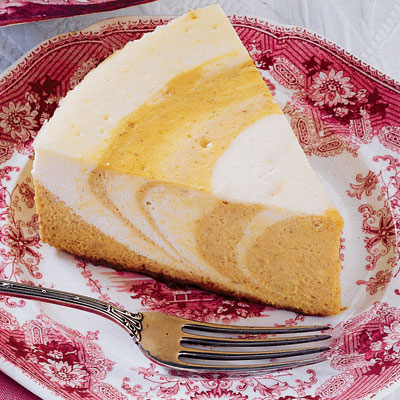 The best part? You can make the swirl whatever flavor you want! Recipe: Pumpkin Zebra Cheesecake