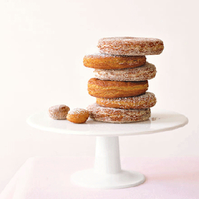 A familiar recipe with touches of nutmeg, apple cider, and cinnamon. What's not to like?Recipe: Apple Cider Doughnuts