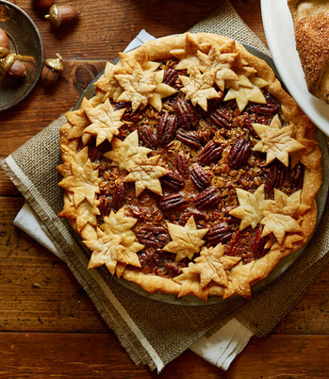 This pie is almost too pretty to cut into. But we obviously would, anyway. Recipe: Maple Granola Pecan Pie